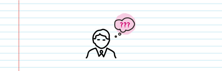 person with a thought bubble with three question marks inside