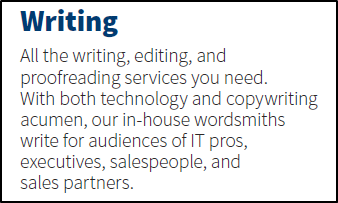 Writing section before markup